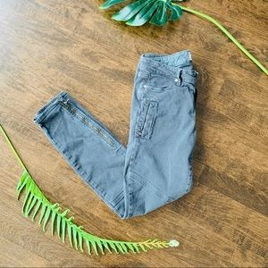 Paige | Zippered Moto Jeans Size 28